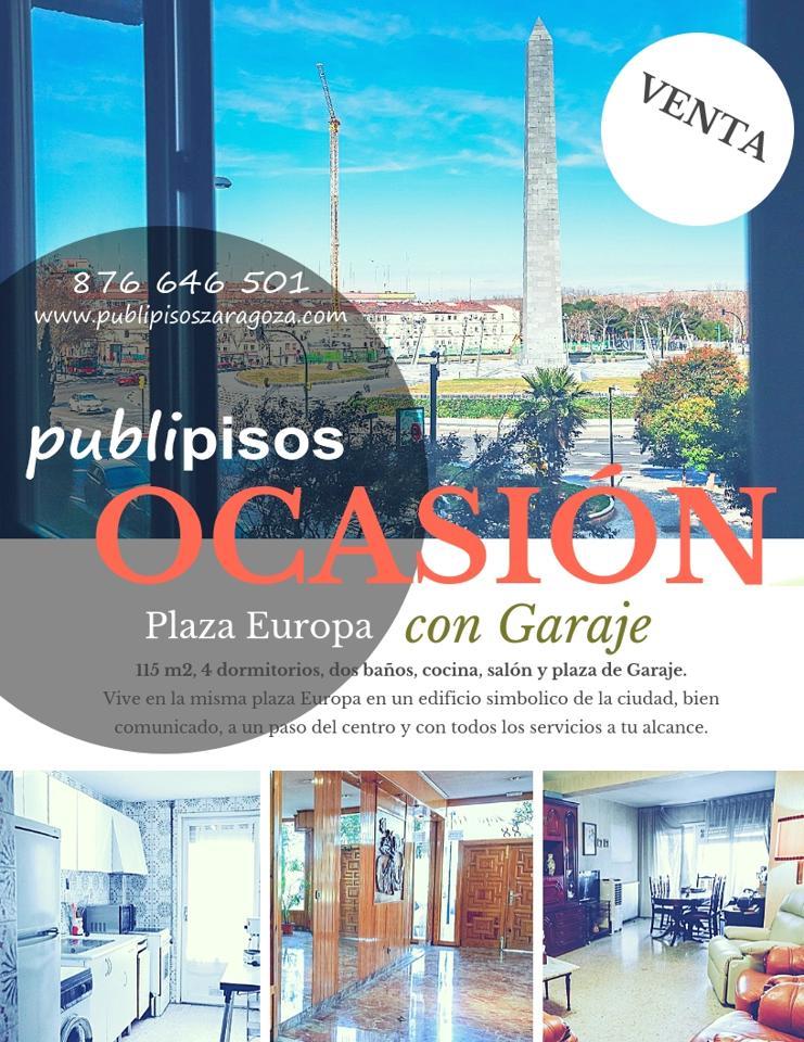 Piso Plaza Europa Zaragoza con garaje