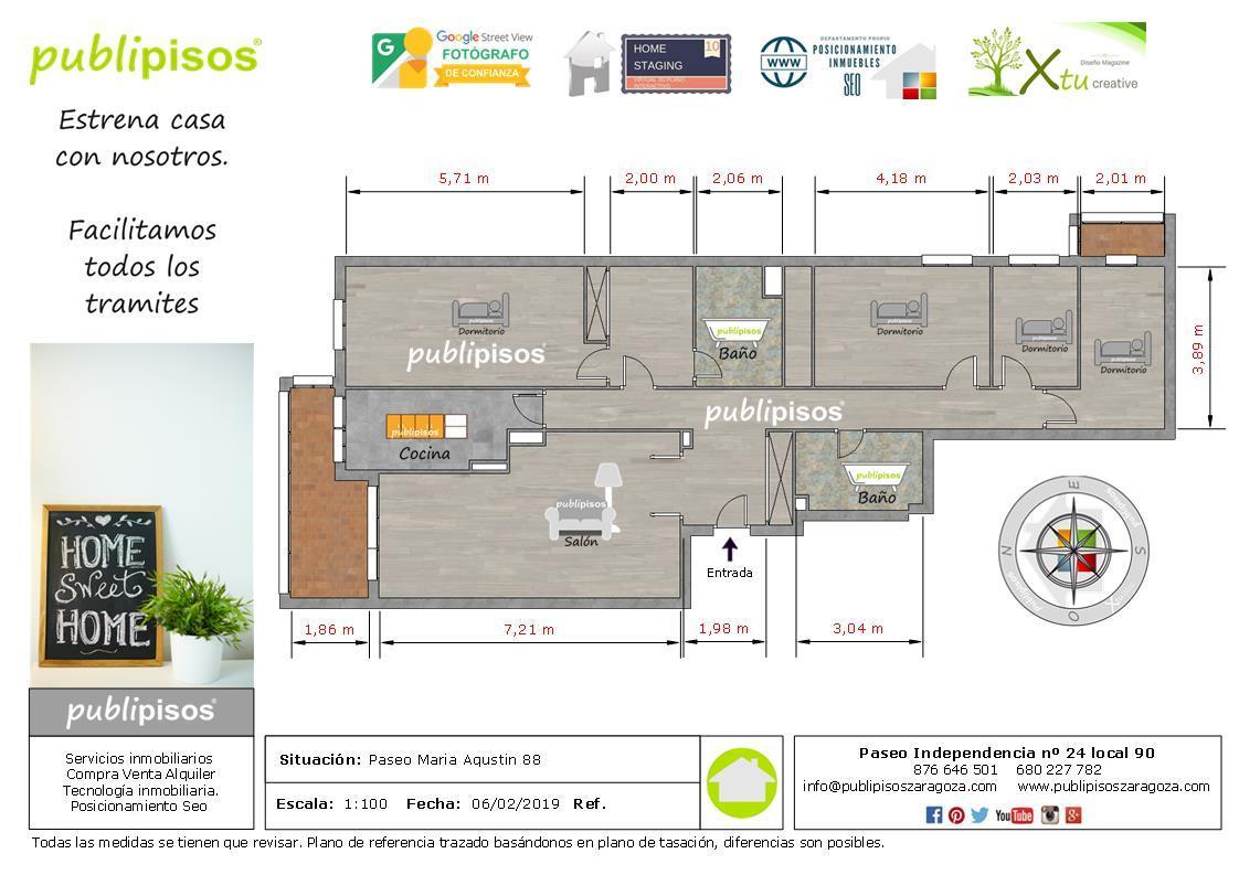 Piso Plaza Europa Zaragoza con garaje-1