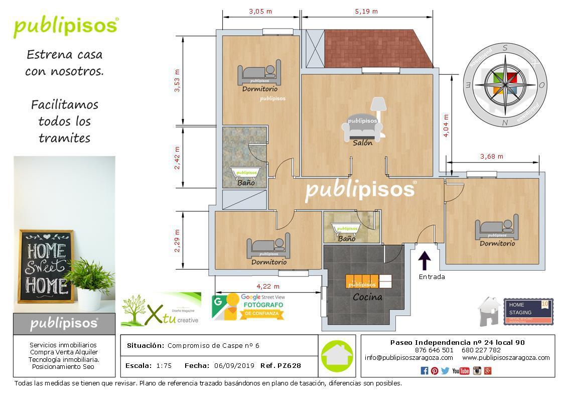 Piso en venta en Zaragoza de 80 m2-1