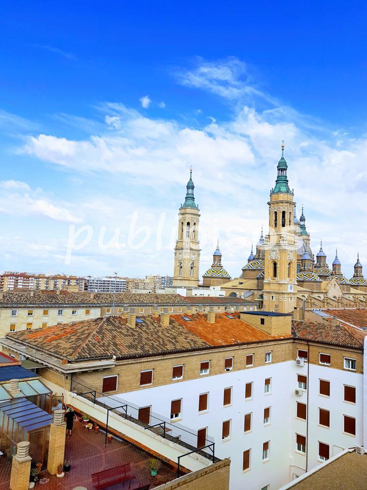 Piso alquiler con garaje y vistas centro Zaragoza