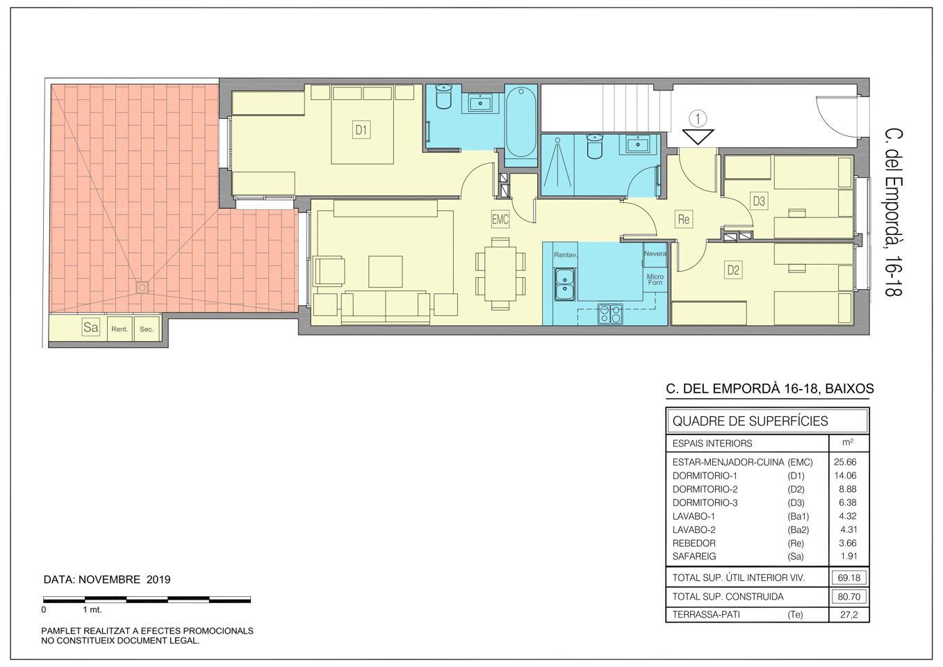 piso en parets-del-valles · carrer-de-l'emporda-08150 210000€