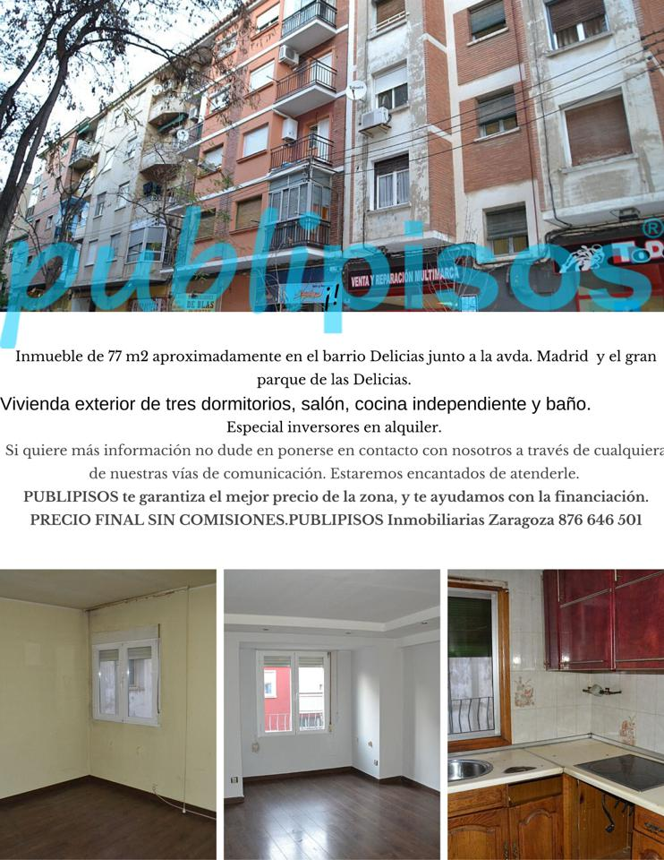 Piso en venta en Zaragoza de 77 m2