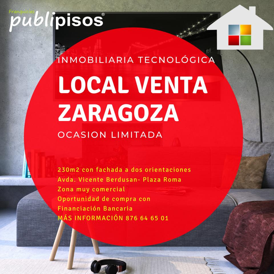 Local comercial en venta Plaza Roma Zaragoza