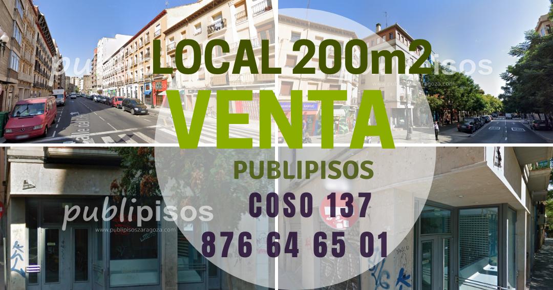 Venta de local comercial en Coso Zaragoza