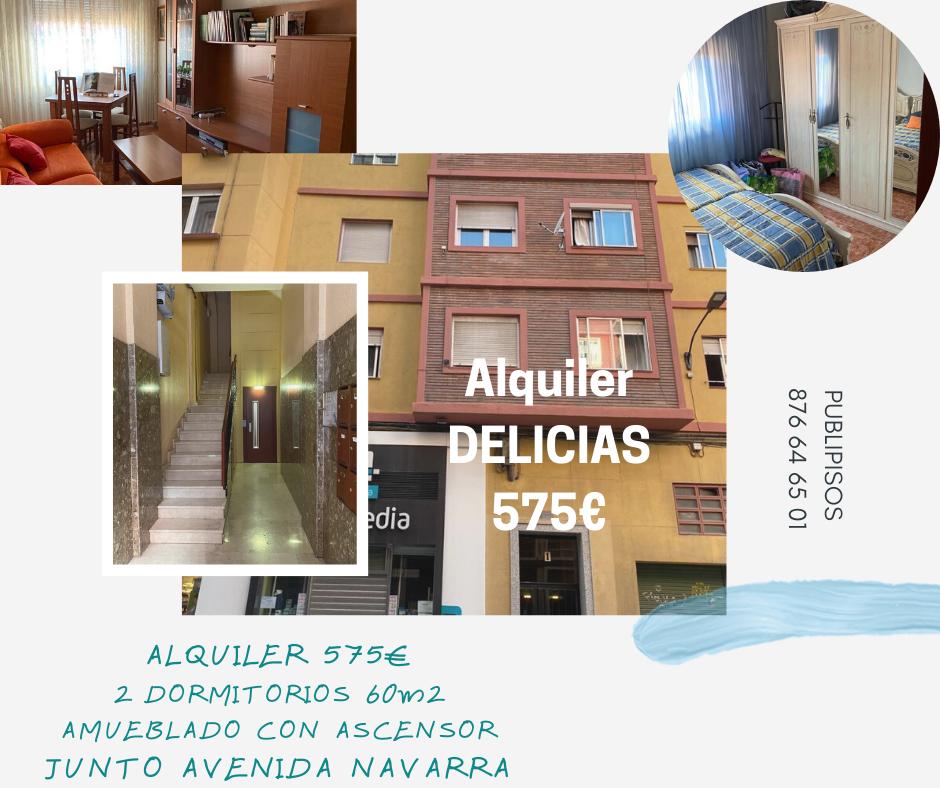 Alquiler de piso amueblado en Delicias