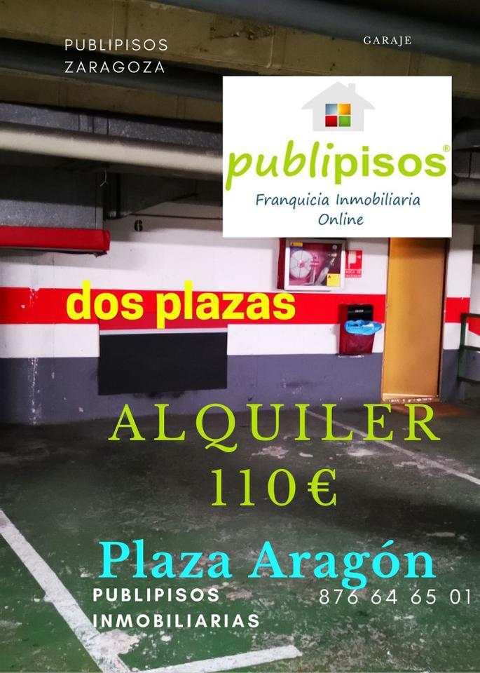 Plazas de alquiler centro Zaragoza