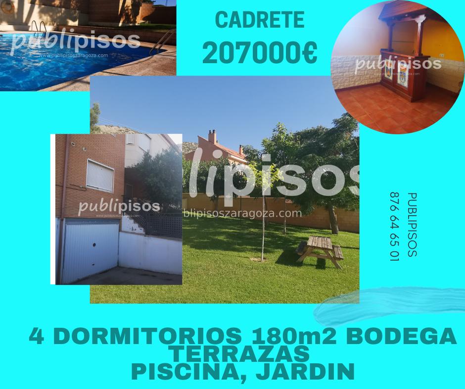 Venta de chalet con piscina y jardín Cuarte Cadrete-1
