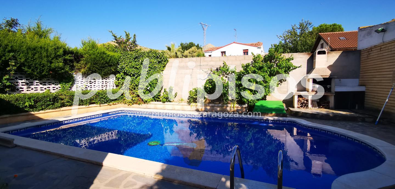 Chalet en venta con piscina en Cadrete-2