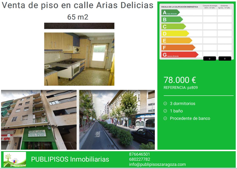 Venta de piso en calle Arias Delicias