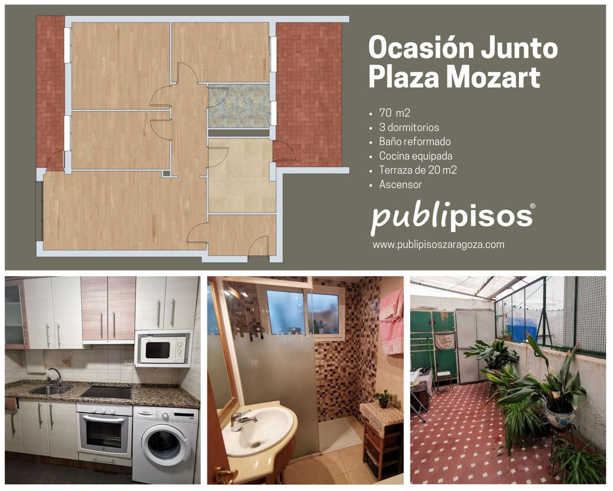 Venta piso OCASION junto Plaza Mozart y Avda Cataluña