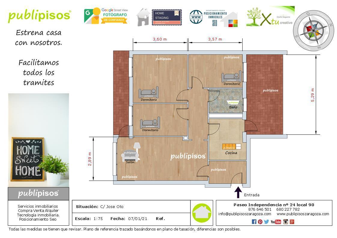 Venta piso OCASION junto Plaza Mozart y Avda Cataluña-1